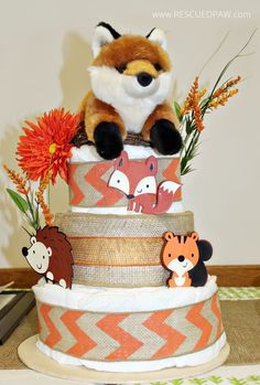 Woodland Themed Baby Shower - Rescued Paw Designs