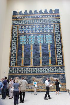 Pergamon Museum - Berlin, Germany-Part of the Ishtar gate from the city of Babylon
