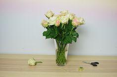 Jak ułożyć kwiaty w wazonie? Szybki i łatwy sposób z wykorzystaniem taśmy klejącej