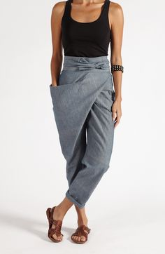 $109 The Sideswept Dhoti + Chambray Teal | MATTER |Ethically Made