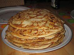 Pannenkoeken: Dutch Pancakes. We eat this for dinner.