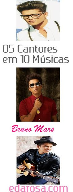 Eles são bonitos, famosos e talentosos, os cantores da playlist de hoje possuem uma carreira de sucesso e fãs em diversos países! #bruno #mars #cantor #playlist #pop #musica Playlist Pop, Bruno Mars, Pop Music, Movies, Movie Posters, Career, Singers, Celebs, Films