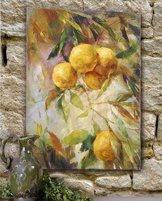 Amalfi Lemons Tuscan Wall Art