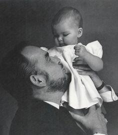Prince Rainier and Princess Caroline photographed by Grace Kelly