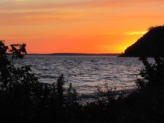 Sunset on Mackinac Island, Michigan