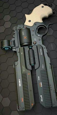 Rail gun revolver..  Bad to the Bone