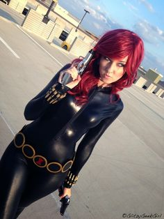 OMGLITZY: Black Widow Cosplay Tutorial