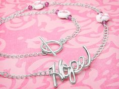 Breast Cancer Hope Necklace Instructions