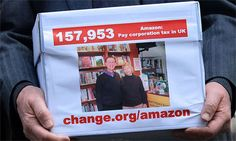 Independent booksellers deliver Amazon taxation petition to No 10 (http://www.guardian.co.uk/books/2013/apr/24/independent-booksellers-amazon-tax-petition)