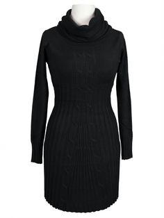 Damen Rollkragen Longpullover, schwarz von Minority bei www.meinkleidchen.de