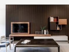 Modern FLAG AV and storage system by Piero Lissoni for Porro. Available at Graye Los Angeles