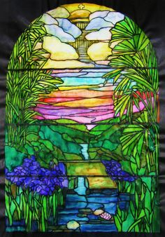 Tiffany windows\' stained glass coloring book. Tom Bow markers ...