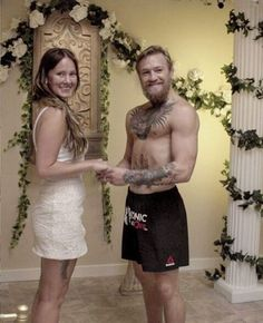 connor mcgregor with his wife Conor Mcgregor Workout, Conor Mcgregor Wife, Conor Mcgregor Quotes, Conor Mcgregor Wallpaper, Mcgregor Wallpapers, Conor Mcregor, Dee Devlin, Notorious Conor Mcgregor, Toddler Girls