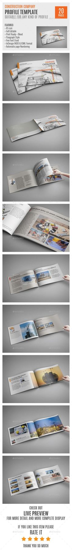 Company Profile Brochure 14 Pages A4 Company profile, Brochures - profile company template