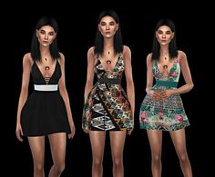 Leo 4 Sims: Twisty Dress • Sims 4 Downloads