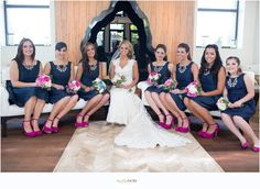 Elena and Corey: Married | Navy and Pink Wedding | Physick House Estate