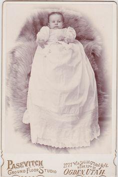 Ellnera Ohlson at the age of 4 months.  Photograph taken in Ogden, Utah.