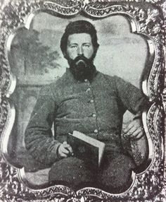 Captain William Tate, 14th Tennessee Infantry, Company H. Capt. Tate was wounded at the battles of Seven Pines and Wilderness.