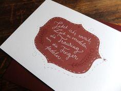 Stephanie & Gerry | Wald und Schwert www.waldundschwert.com #stationary #wedding #invitation #handwriting #typography #fox #beave Wedding Invitation, Invitations, Paper Goods, Handwriting, Chalkboard Quotes, Art Quotes, Stationary, Fox, Typography