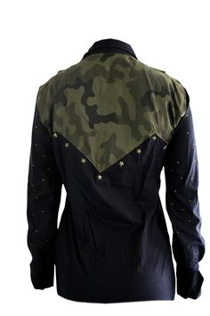 Military inspired western Ranch Riding blouse - by CM Design