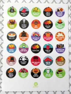 Fall Bucket List Planner Stickers for Erin Condren by PlannerPenny
