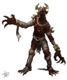 Demonic Mummies, one of the guardians of the halls of the Sin Forge