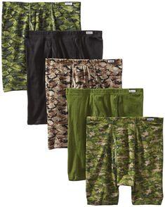 d9bcf68b093b Hanes Men's 5-Pack Comfort Soft Boxer Briefs Printed/Camo - 5 Pack X