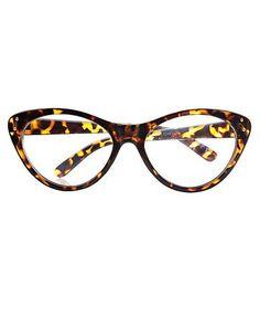 f096a0d08b7 Cat Eye Frame Sunglasses in Leopard Print Stylish Glasses Frames