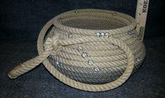 Rope Basket Cowboy Western Decor Wedding Furniture Handmade Lasso Bowl | eBay
