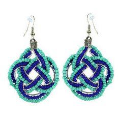 Boucles d'oreilles fantaisie métal et perles bleues - Bijoux: ShalinCraft: Amazon.fr: Bijoux