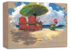 Mickey Mouse - Shorefront Hula - Minnie - Gallery Wrapped - James Coleman - World-Wide-Art.com