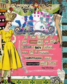 Art Journal Page by Julie Ann Shahin