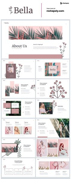 Bella Powerpoint Template - Bella is an elegant and creative Powerpoint Template that will adapt to your project quickly. Cute Powerpoint Templates, Template Brochure, Powerpoint Slide Designs, Powerpoint Design Templates, Free Ppt Template, Flyer Template, Business Presentation Templates, Presentation Design Template, Ppt Design