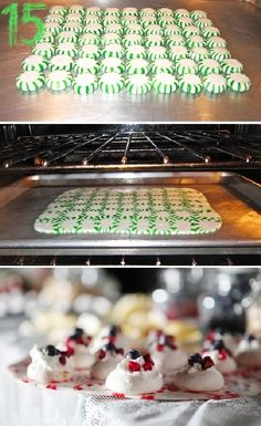 24 Christmas Finger Food Ideas#15 melt peppermints in the oven Christmas