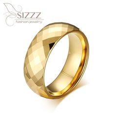 >> Click to Buy << Top quality gold-color wedding jewelry brand design mens ring gifts tungsten ring for men #Affiliate
