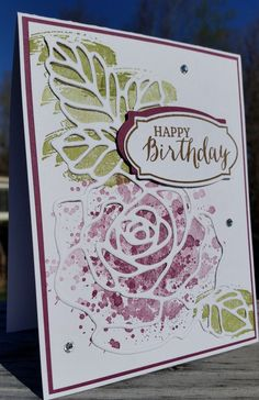 30 Ideas birthday card ideas for women flowers stampin up Birthday Card Messages, Birthday Thank You Cards, Birthday Cards For Women, Bday Cards, Handmade Birthday Cards, Greeting Cards Handmade, Female Birthday Cards, Birthday Greetings, Stamping Up Cards