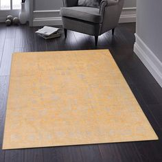Cover your floor in the beautiful fine blend of wool and silk with this gorgeous handmade area rug. Inspired by classic designs from centuries past, this rug is constructed using time honored craftsmanship. Enjoy natural fibers that will last for years to come! #handmaderug #naturalfibers #arearug Gold Rugs, Shades Of Beige, Oriental Design, Lavender Color, Primary Colors, Area Rugs, Floor, Silk, Inspired