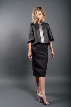 Dip Dye, Red Gold, Romania, Leather Skirt, Winter Fashion, Fall Winter, Metallic, Copper, Chic