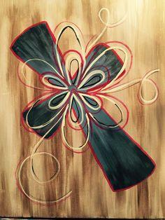 Modern day cross at El Taco Loco -Hilltop - Paint Nite Events near Virginia Beach, VA> Cross Canvas Paintings, Canvas Art, Painted Canvas, Love Painting, Fabric Painting, Wine And Canvas, Acrylic Painting For Beginners, Cross Art, Paint And Sip