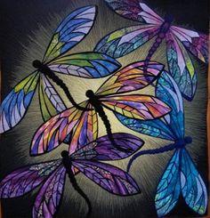Folk Embroidery Ideas Dance of the Dragonflies - Dragonfly Drawing, Dragonfly Painting, Dragonfly Wall Art, Dragonfly Tattoo Design, Butterfly Art, Butterflies, Monarch Butterfly, Dibujos Zentangle Art, Dragon Fly Craft