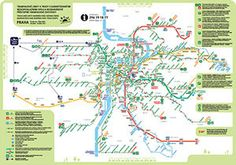 Prague Transport Map - Prague Hotel Reservation and Travel Guide