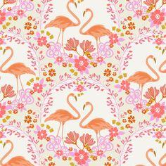 Flamingo Tapestry fabric by eastendstudios on Spoonflower - custom fabric