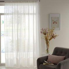 Imagen de Visillo tejido con bajo emplomado, SYLVA La Redoute Interieurs