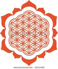 Vector image /  Lotus - Flower of life / symbol harmony and balance by tschitscherin, via Shutterstock
