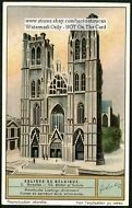St. Michael Gudule Cathedral Brussels Belgium 1920 Card