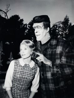 """Pat Priest and Fred Gwynne in """"The Munsters 1960's"""
