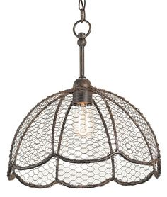 Raga Pendant by Curry and Company. Kind of love this for the rustic/vintage kitchen look.