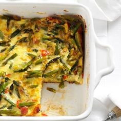 Overnight Asparagus Strata Recipe from Taste of Home -- shared by Lynn Licata of Sylvania, Ohio