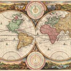 Vintage Maps Digital Scrapbook Paper old map por pickychicken Antique World Map, Old World Maps, Antique Maps, Vintage Wall Art, Vintage World Maps, Vintage Canvas, Digital Scrapbook Paper, 6 Images, Solar System Model