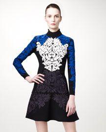B1XDE Stella McCartney Damask-Embroidered Dress